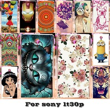 Luxury Painted Mobile Phone Skin Cases For Sony Xperia T Lt30p Lt30 LT30I Covers Protective Bags 18 Styles Plastic Durable Shell