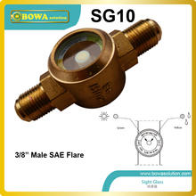 "3/8"" refrigeration sight glass with SAE flare connection suitable for constant tempeature and condensing unit replace Honeywell"