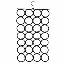 2 Colors Multifunctional Ring Rope Circle Wrap Shawl Slots Foldable Storage Saving Place Stainless Hook Display Organizer Weave