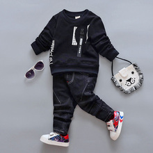 BibiCola Baby Boys Clothing Sets Baby Spring Sports Suit Girls Casual Long Sleeve Shirt+Pants Kids 2PCS Kids Tracksuit For Boys(China)