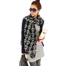 Fashion Style Women Soft Chiffon Scarf Skull Printed Scarf New Arrival Punk Style Scarves HO859512