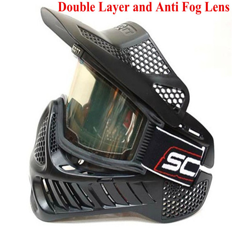 3 PCS / Lot Paintball Mask or airsoft Mask with double lens Goggle<br><br>Aliexpress
