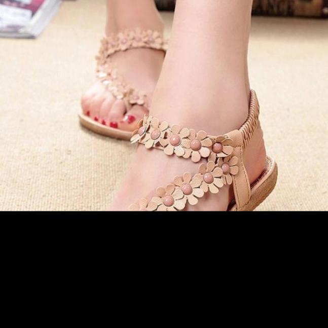 Best Gift Drop Shipping Summer Bohemia Sweet Beaded Sandals Clip Beach Shoes Herringbone Sandals Shoes Description Dec26<br><br>Aliexpress