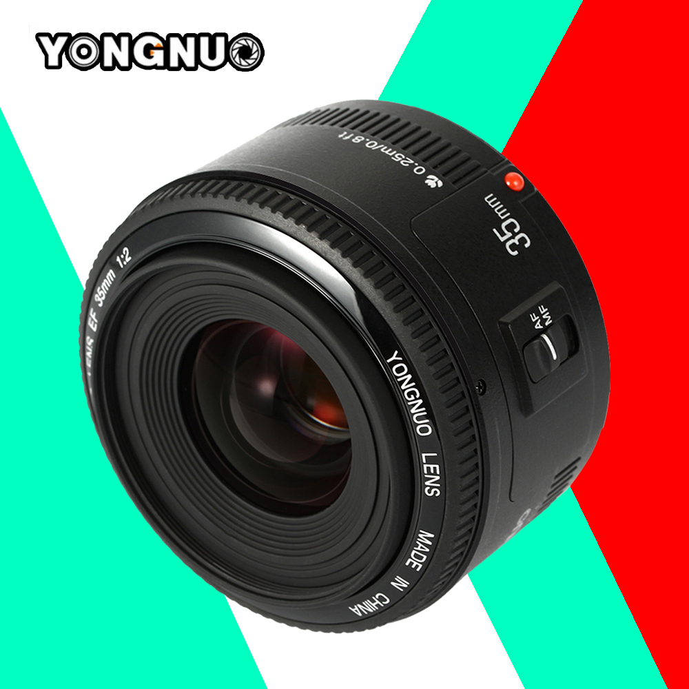 Yongnuo 35mm F/2 lens YN35mm F2 lens Wide-angle Large Aperture Fixed Auto Focus Lens For Canon EF Mount EOS Cameras<br><br>Aliexpress
