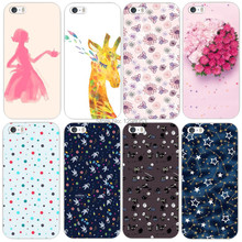 1pcs Colorful Flowers Painted mobile cell phone case for apple iphone 5 5S 5G MCA063