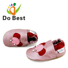Dobest Brand Cartoon Elephant Soft Baby Kids Crib Toddler Shoes Moccasins For Girls First Walkers New 2017 Autumn Spring Fashion