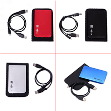 Elisona Shockproof USB 2.0 USB2.0 External SATA HD HDD 2.5 Inch Box Hard Drive Disk Storage Enclosure Case Cover Bag Pouch(China)