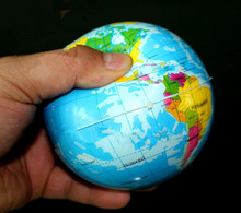 Foam Rubber Ball World Map Foam Earth Globe Hand Wrist Exercise Stress Relief Squeeze Soft Foam Ball(China)