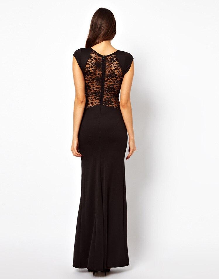 Черное платье длинное