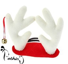 1 Piece Cute Puppy Dog Christmas Cap Product Pet Supplies Antlers Deer Hat for Teddy Santa Decals Party Accessories S size