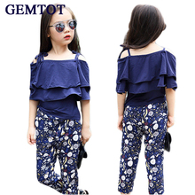 Girls Set Clothes Kids Fashion Top Pant Two Piece Children Summer Suit Girls Boutique Outfits 7 8 9 10 11 12 13 14 Years