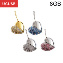 Hot sale Delicate Love Rhinestone heart Jewelry Usb flash drive Pen drive Usb memory stick disk USB2.0 1GB 2GB 4GB 8GB 16GB 32GB(China)