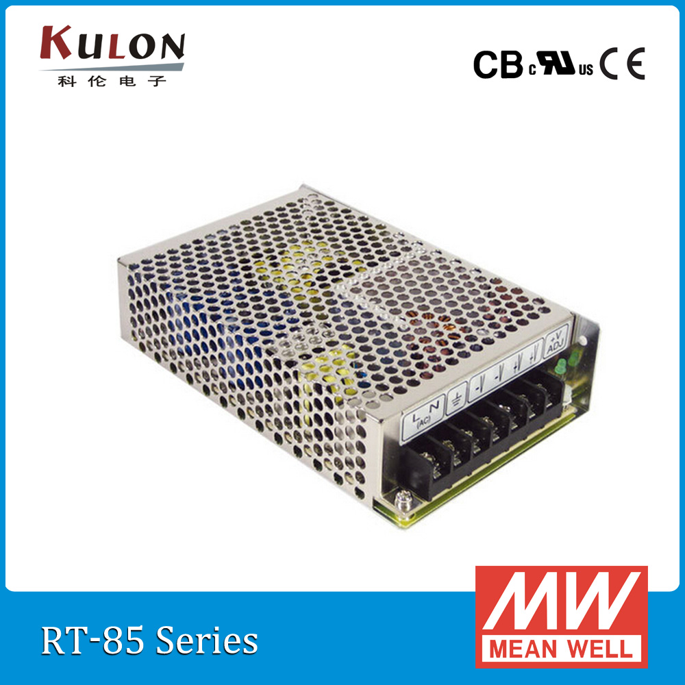 Original Mean Well RT-85B 85W Triple output +5V/8A +12V/3.5A -12V/0.5A Meanwell Power Supply<br>