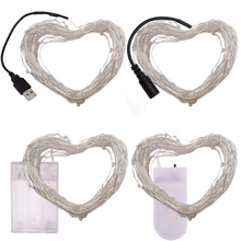 10M 5M 2M Battery USB Powered LED String Light Cooper Wire Fair Lights Decoration Strip Lamp for Party Wedding Christmas