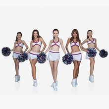 Handheld Pom Poms Cheerleader Cheerleading Cheer Dance Party Football Club Decor #Q39E#