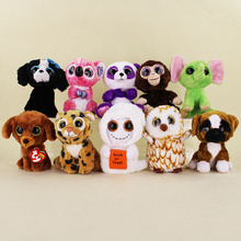 15cm Ty Beanie Boos Big Eyes Tiger Halloween Mist White Ghost Tracey Black Dog Brutus -Boxer dog Plush Toy Doll Baby Kids Gift(China)