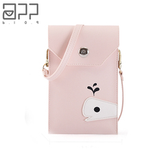 APP BLOG Luxury Brand Woman's Messenger Bag Handbag 2017Newest Cute Dolphin Cell Phone Bags Wallet For Girl Bolsa Feminina Mujer(China)