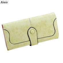 2017 Brand Retro Wallet Multi-card Position Two Fold Wallet lady Long Purse Clutch Card Holder Lady Bags Women Wallets Women(China)