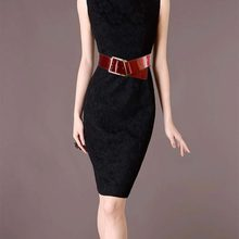 Wide patent leather belt Ms. oblique ride leather belt wide belt decorated girdle true Korean fashion # 1839406(China)