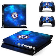 New Chelsea Football Club PS4 Skin Sticker Decal Cover For Sony PS4 PlayStation 4 Console and 2 Controllers PS4 Stickers Vinyl