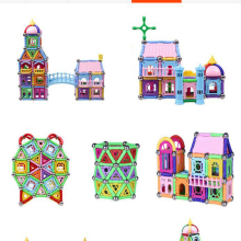 High quality new castle design 370PCS Child Early Education block figure Amazing Magnetic set