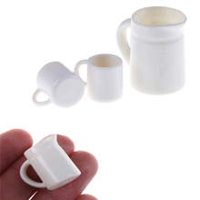 1pcs 1/12 Kitchen Cups Set Dollhouse Kitchenware for Children Kid Plactic Coffee Tea Cups Dollhouse Miniature Toys(China)