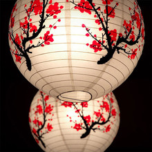 1 Pcs Plum Blossom Bamboo Butterfly Chinese Paper Lantern Lamp Shade Wedding Party Home Decoration Chinese Round Oriental Decor