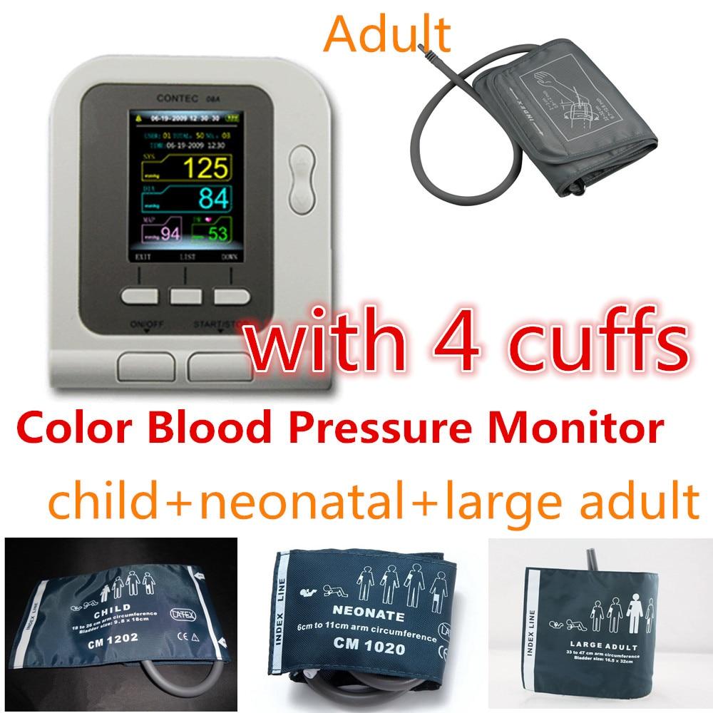 HOT! CONTEC AUTOMATIC 08A DIGITAL UPPER ARM BLOOD PRESSURE MONITOR + 4cuffs + SW<br><br>Aliexpress