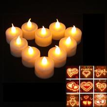 50% shipping fee 120 pieces  Flickering Flicker Flameless LED Tealight Tea Candles Light Battery Operated Wedding