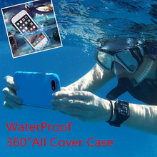 360 Full Body Cover Protector WaterProof Case For iPhone X 6 S 6S 5 5s se 7 8 Plus i8 Phone Bag Protective Case watertight Capa(China)