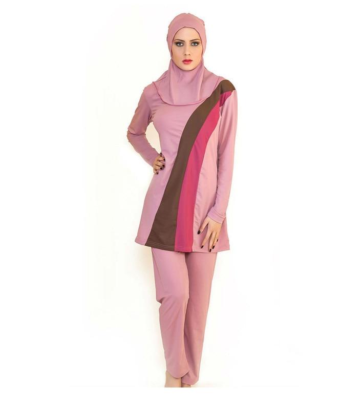 2015Top Quality Muslim Swimwear Islamic Clothing Swimsuit For Muslim Women Malaysia Turkish Islamic Swimsuit Arab Garment<br>