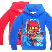 New 2017 hot sale fashion cartoon long sleeve print hooded cotton T-shirt kids baby girls boys children hoodies sweatshirts
