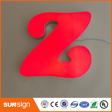 custom made portable commercial advertising signages led 3d epoxy resin channel letter sign(China)