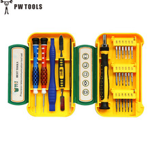 PW TOOLS 24 in 1 High Quality Precision Magnetic Screwdriver Set Torx T6 Screwdriver For Cell Phone Computer Repair with Box(China)