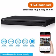Overseas DaHua 16 CH NVR Onvif NVR5216-16P-4KS2 16 Channel 4K Resolution PoE NVR 16ch for 12MP CCTV Camera Previewing