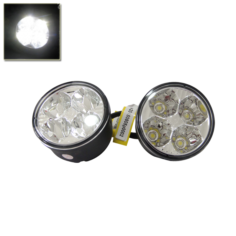 White Superflux 70MM 2.7Inch Led Car Auto Driving Front Fog Light Assembly Kit Universal Use 7CM Car Round Led Light Car-Styling<br>