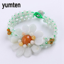 Yumten Women's Bracelets Emerald Hand Made Bracelet Popular Fashion Accessories Gift Alibaba-Express Power Chakra Love Bileklik(China)