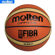 Brand Genuine Size7 Molten GM7 Basketball Ball PU Leather Men Outdoor Basketball Training Equipment  With Free Net Nag+Pin