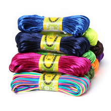 New Arrivals 2mm 20M Chinese Knot Cord Rattail Satin Braided String Jewelry findings Beading Rope for DIY Fashion crafts