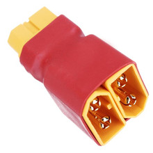 High Quality XT60 2 string 1 Mains Supply Plug For Two Batteries In Series For RC Helicopter Parts Accs