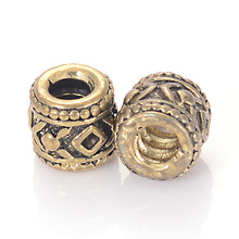Antique Gold Color Plated Design Large Hole Beads Vintage Charm Fit Original Pandora Bracelet Pendants DIY Jewelry Making(China)