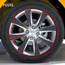 16 Strips Wheel Sticker Reflective Rim Stripe Tape for Honda HR-V Fit Accord Civic CR-V city jazz CRIDER GREIZ ELYSION(China)