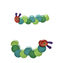 1Pcs Wooden Block Baby Fingers Flexible Blocks Cute Insects Twist the Very Hungry Caterpillars Children Anime Toys(China)