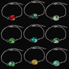 Buy Glow Dark Solar System Bracelet Planets Space Moon Charm Astrology Jewelry Universe Galaxy Bracelet Bangle Christmas gift for $1.08 in AliExpress store
