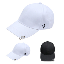 Korean Style black white hoop cap M Harajuku style curved eaves baseball cap hip-hop hip-hop hat female summer sun hat #6