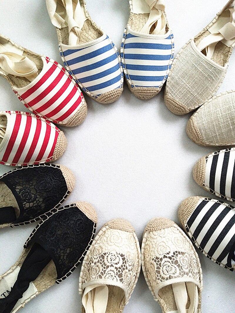 Canvas Summer Women's Espadrille Sandals Flats Ankle Strap Hemp Bottom Fisherman Women Shoes For 2018 SpringAutumn Women Loafer (18)