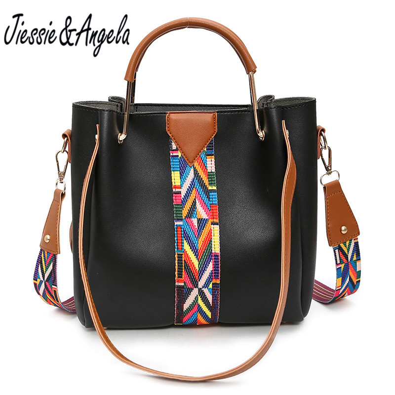 Jiessie &amp; Angela New famous bag for women leather handbag big casual women tote bags fashion strap shoulder bags bolsa feminina<br>