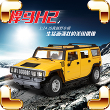 New Arrival Gift H2 1/24 Metal Model SUV Truck Vehicle Alloy Collection Jeep Show Goods Diecast Toys Car Luxury Present Friend(China)