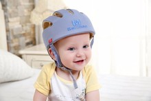 Baby Safety Helmets Cotton Infant Protective Hat Crashproof Anti-shock Hat gray(China)