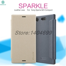Buy Nillkin Flip Case Sony Xperia XZ1 Compact Sparkle Series PU Leather Flip Cover sFor Sony Xperia XZ1 Compact Case for $7.91 in AliExpress store
